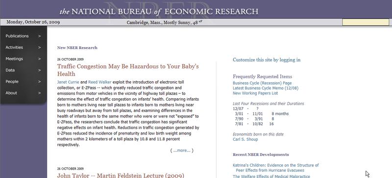 NBER New